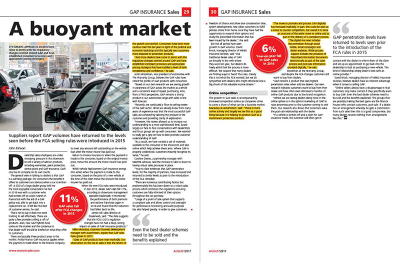 AutoProtect Motor Trader Feature: A Buoyant Market
