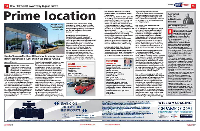 Autoprotect Motor Trader Feature: Prime Location