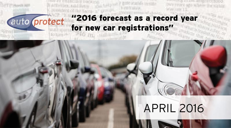 APRIL 2016 - CAR SALES RISE POST BREXIT