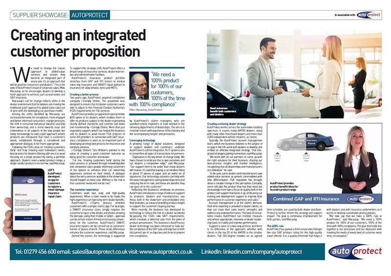 AutoProtect Automotive Management Feature