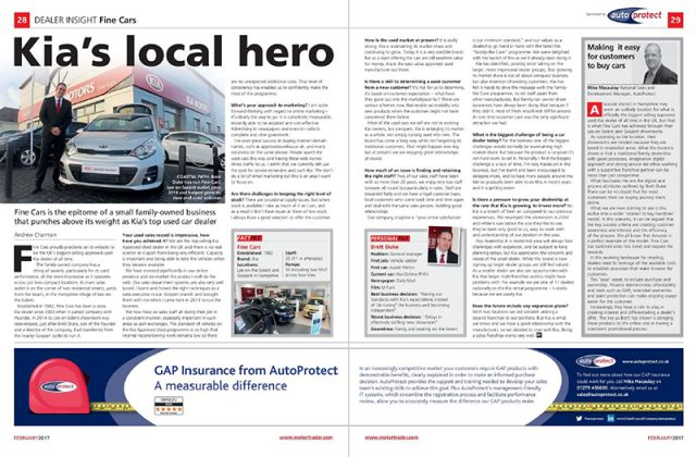 AutoProtect Motor Trader Feature: Kia's Local Hero