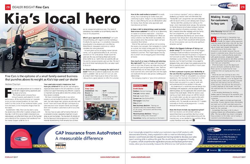 AutoProtect Motor Trader Feature: Kia's Local Hero