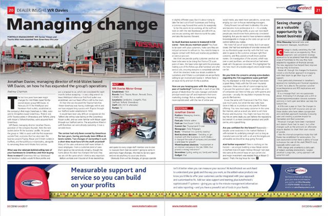 AutoProtect Motor Trader Feature: Managing Change
