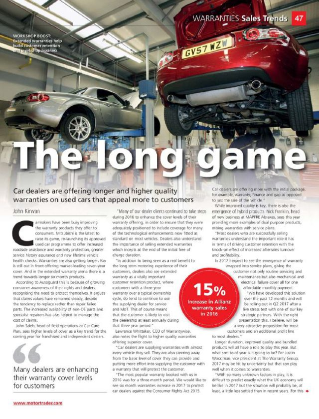 AutoProtect Motor Trader Feature: The Long Game